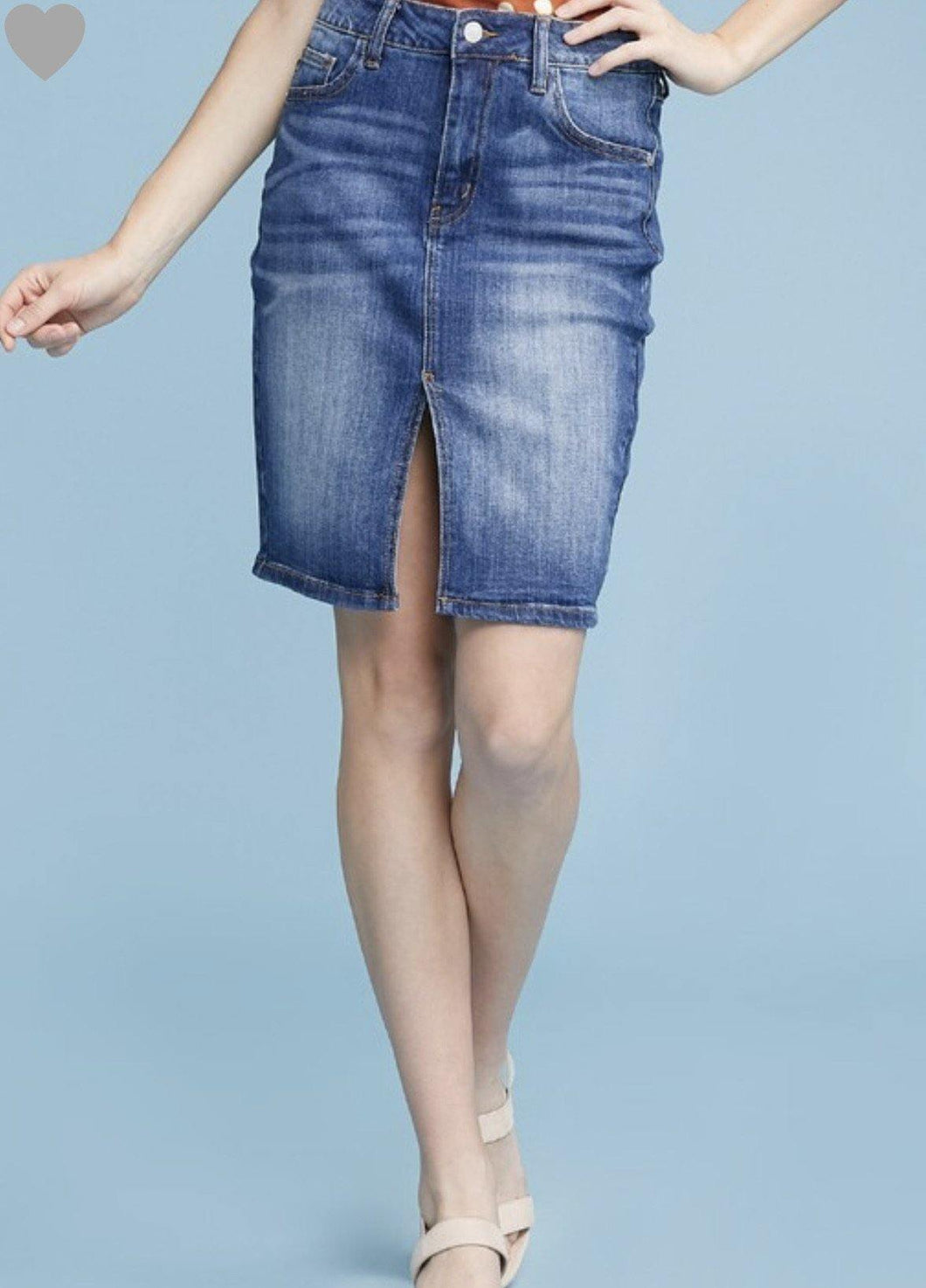 Dylan Denim Pencil Skirt - The Catalina Rose