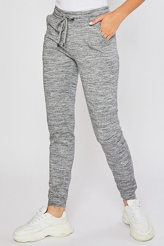 Oreo Marled Fleece Basic Jogger - The Catalina Rose