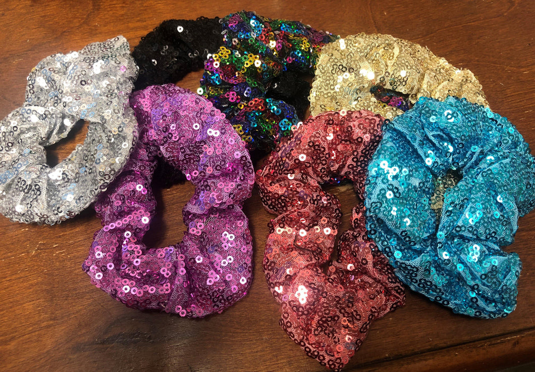 Sequin Scrunchies - The Catalina Rose