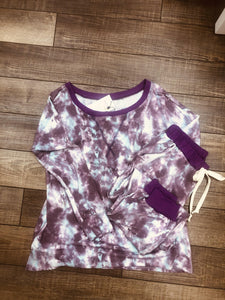 Rosa Tie Dye Lounge Top - The Catalina Rose