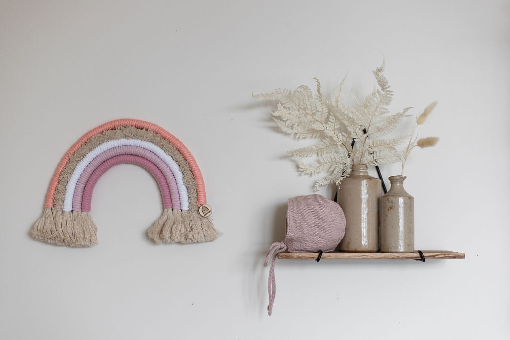 'Flamingo' Macrame Rainbow