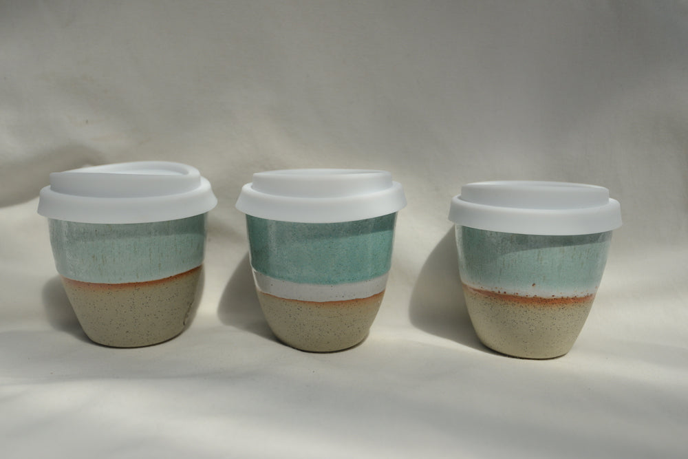 Ceramic Reusable Coffee Cup Aqua