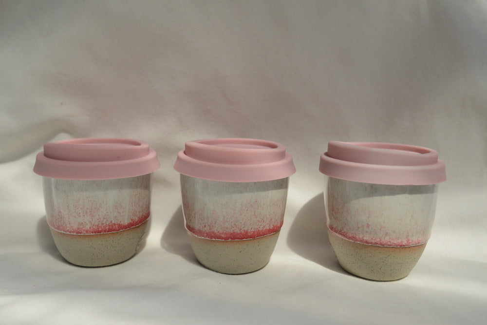 Ceramic Reusable Coffee Cup Pink