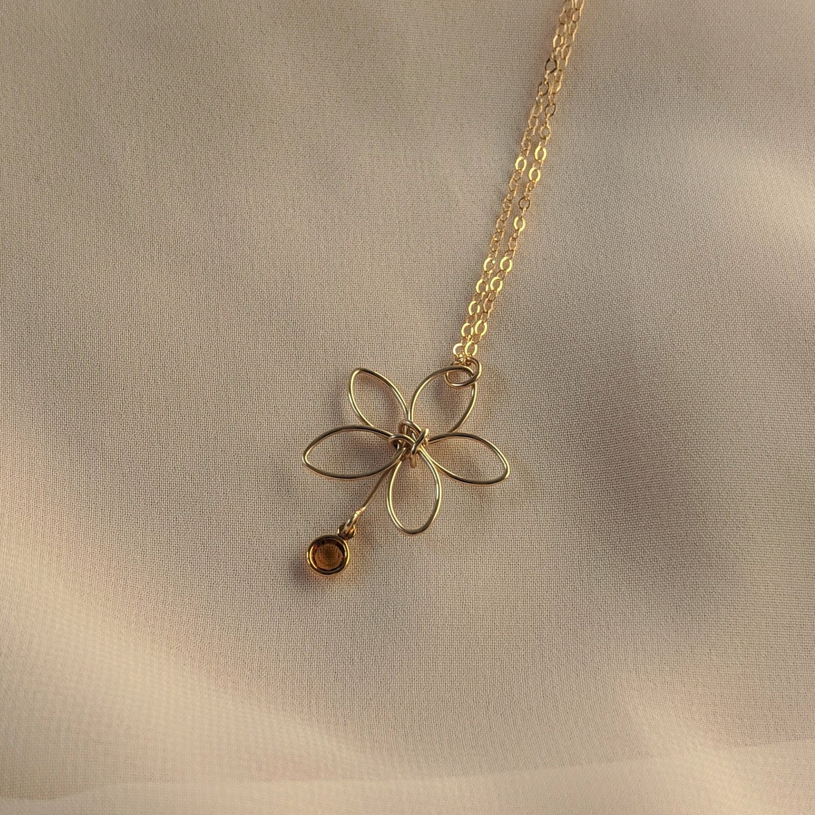 Gold Flora Necklace