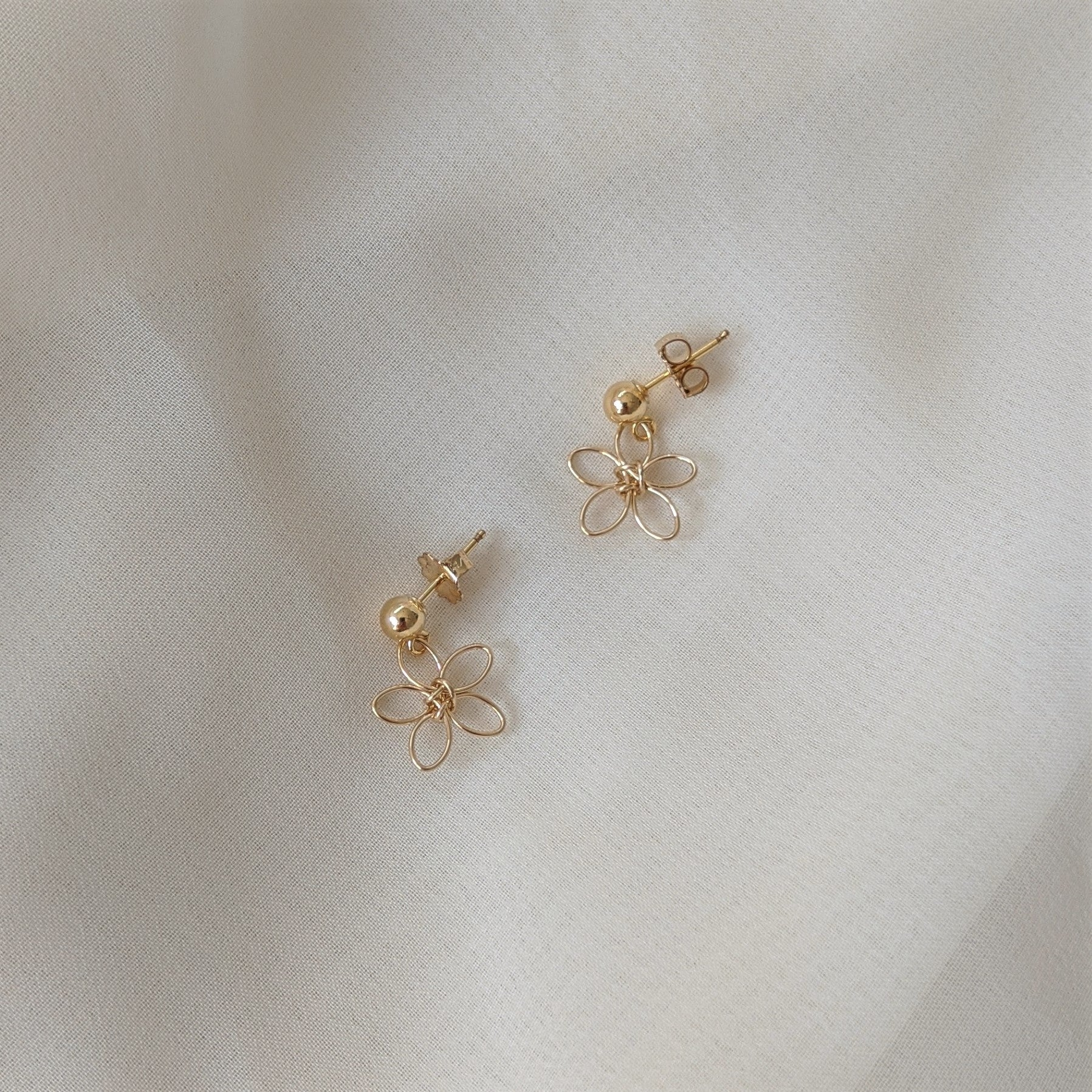 Gold Wildflower Earrings