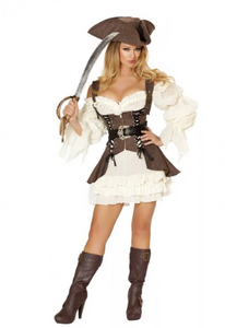 4529 - 4PC NAUGHTY SHIP WENCH COSTUME