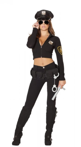 4501 - 6PC SEDUCTIVE COP COSTUME