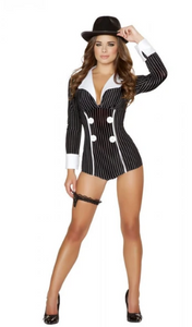 4504 - 1PC MISCHIEVOUS MOBSTER BABE COSTUME