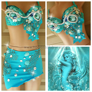 Blue Sea Mermaid Costume