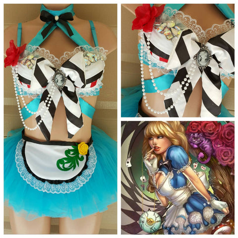 Alice in Wonderland Costume with Tutu