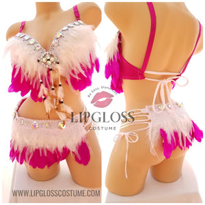 Sexy White Pink Angel Costume