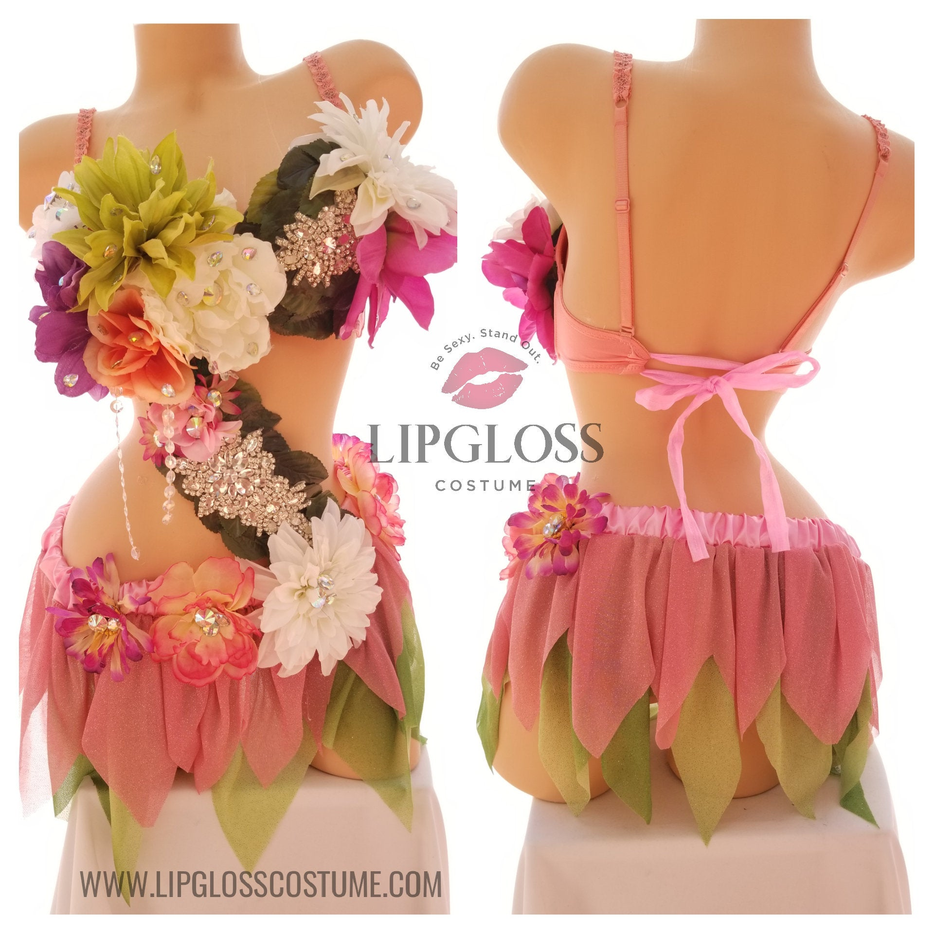 Pink Green Fairy Costume