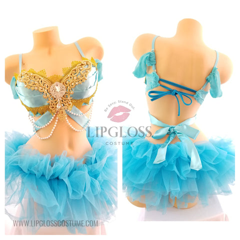 Blue Jasmine Princess Rave outfit