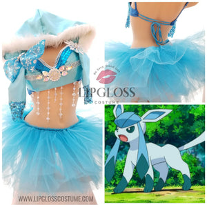 Pokemon inspired Glaceon Costume with Tutu