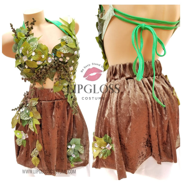 Green Mother Nature Woman Adult Costume