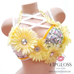 Yellow Electric Light Up Glow in the dark Bra