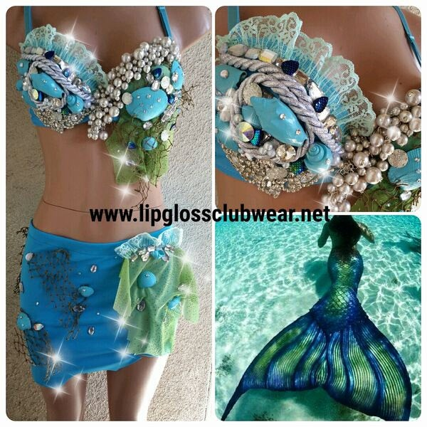 Green Blue Sea Mermaid