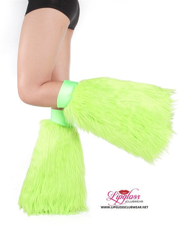 Lime Green Rave Fluffie