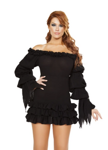 4770 - RUFFLED PIRATE DRESS WITH SLEEVES & MULTI LAYERED SKIRT