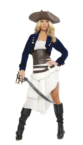 4245 - DELUXE 6PC COLONIAL PIRATE