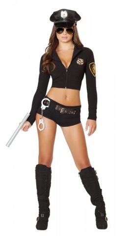 4500 - 7PC OFFICER HOTTIE COSTUME