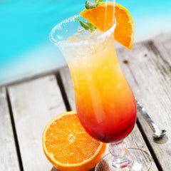 sexy summer cocktail sex on the beach by pool