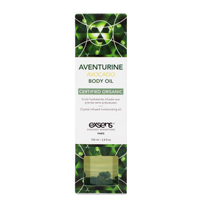 EXSENS Aventurine Avocado Crystal Infused Body Oil