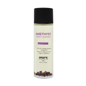 EXSENS Crystal Infused Massage Oil - Amethyst Sweet Almond