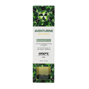 EXSENS Crystal Infused Massage Oil - Aventurine Avocado