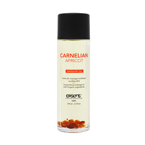 EXSENS Crystal Infused Massage Oil - Carnelian Apricot