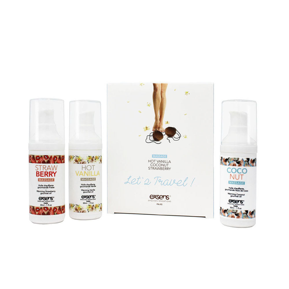 Let's Travel! Warming Intimate Massage Oil Kit
