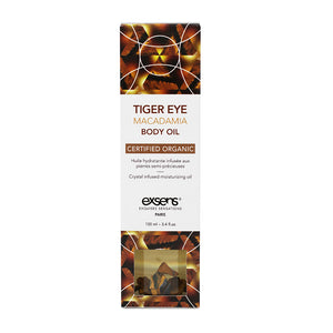 EXSENS Tiger Eye Macadamia Crystal Infused Body Oil