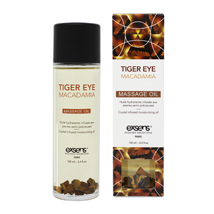 EXSENS Tiger Eye Macadamia Crystal Infused Massage Oil