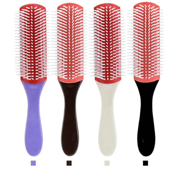 20.5cm Length Anti-static 9 Rows Hair Brush Handcraft Hairbrush Hairdressing Scalp Massager Hair Comb Styling Tools Health