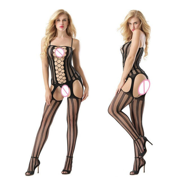 Sexy Open Crotch transparent pantyhose women fashion tights sheer erotic Lingerie clothes stockings 150