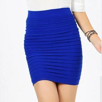 Young Girls Short Skirts Spring Summer Women High Waist Candy Color Plus Size Elastic Pleated Sexy Short Skirt For Mother