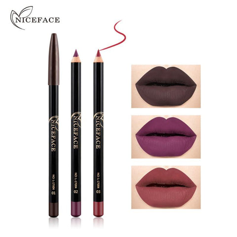 12 Colors Fashion Lip Makeup Pencils Lasting Pigments Waterproof Matte Lip Liner Smooth Soft Lipstick Pen Make Up Tool TSLM1