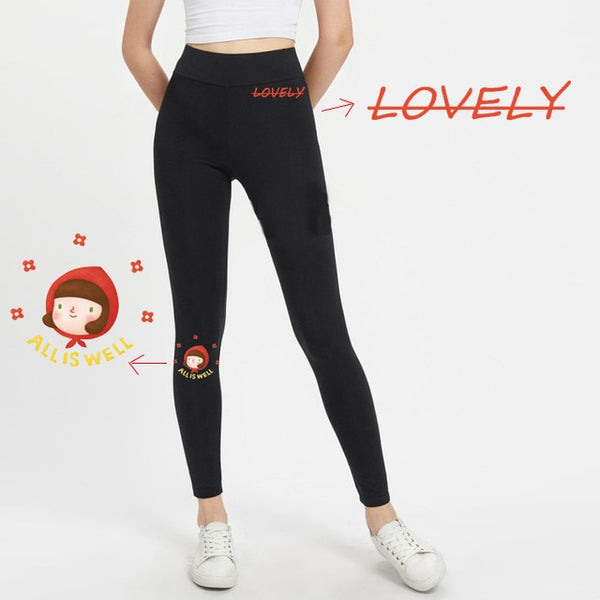 Yoga Pants Mickey Women Push Up Sports Running Sportswear Fitness Leggings Seamless Tummy Control Gym Tights Cartoon Mouse Pants