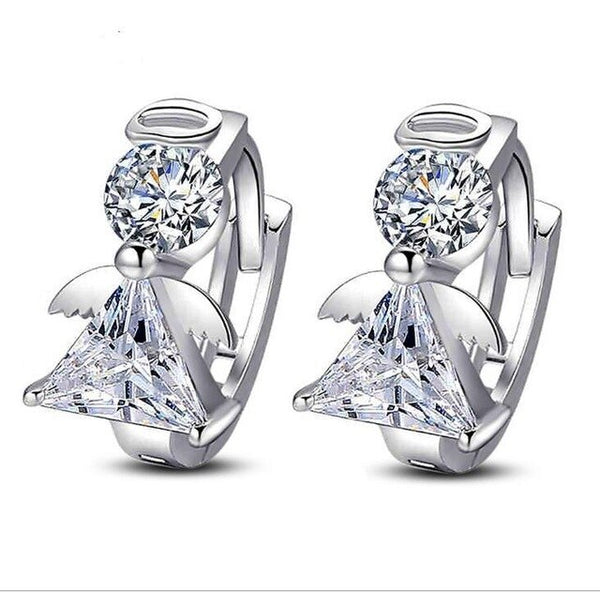 Full Crystal Earrings Luxury Silver color plated Earrings For Women Earing Zircon Earings Fashion Jewelry Stud Earing Oorbellen