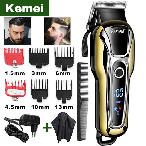Kemei hair clipper professional hair Trimmer in Hair clipper for men electric trimmer LCD Display machine barber Hair cutter 5