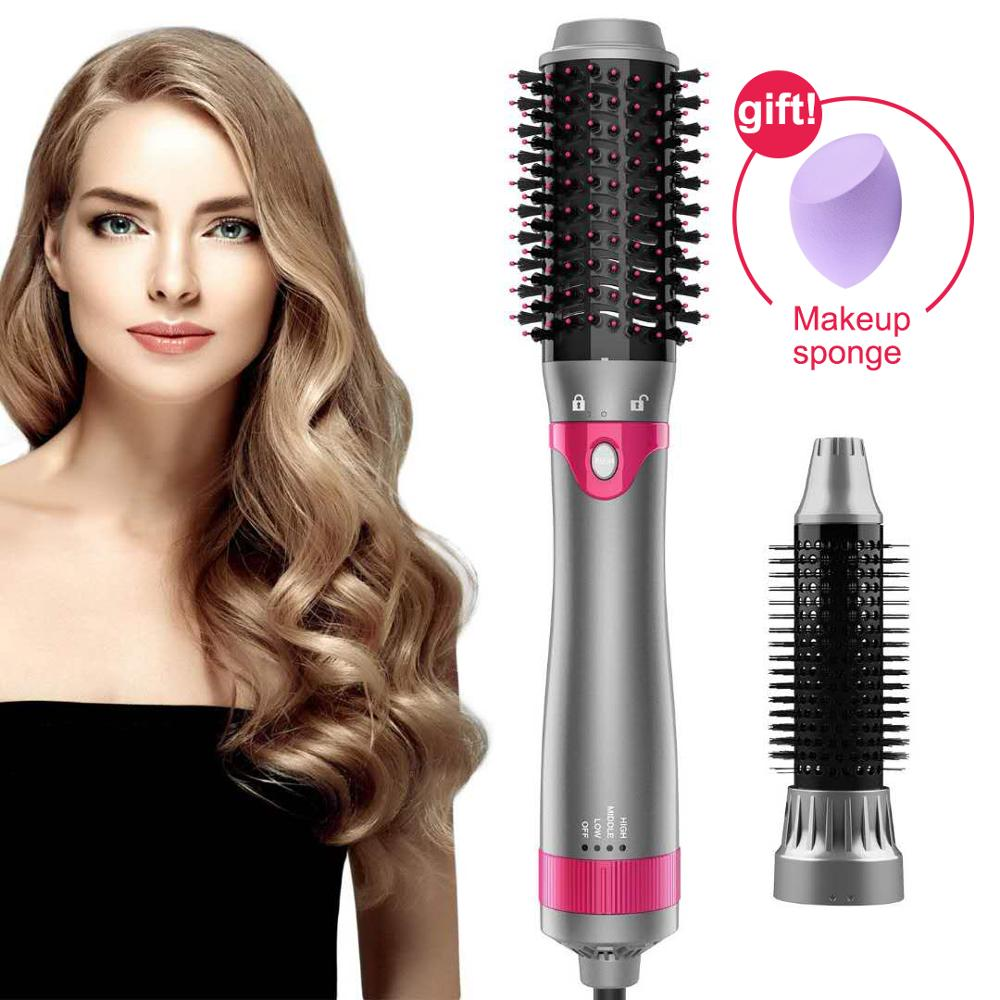 Dropshipping One Step Hair Dryer and Volumizer Blower Professional 3 in 1 Hot Air Brush Hair Curler Straightener Styling tools