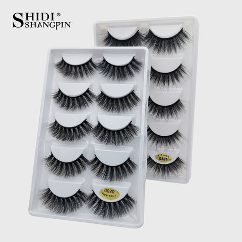SHIDISHANGPIN Mink Lashes Wholsalse False Eyelashes 20/30/40/50 Pairs Mink faux cils cilios Eyelashes Natural Make Up lash Bulk