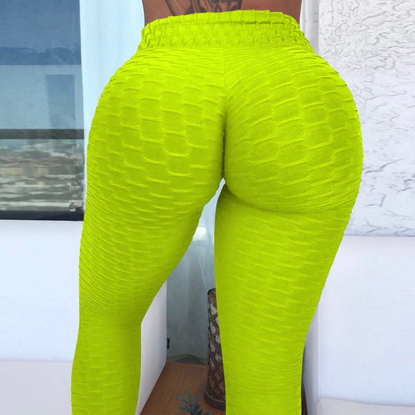 2020 Sexy Yoga Pants Fitness Sports Leggings Jacquard Sports Leggings Female Running Trousers High Waist Yoga Tight Sports Pants