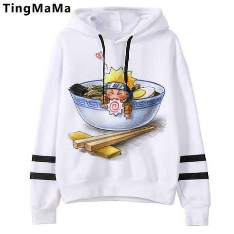 Naruto Akatsuki Graphic Hoodies Men Kawaii Hot Japanese Anime Streetwear Harajuku Warm Winter Autumn Cartoon Sweatshirts Male