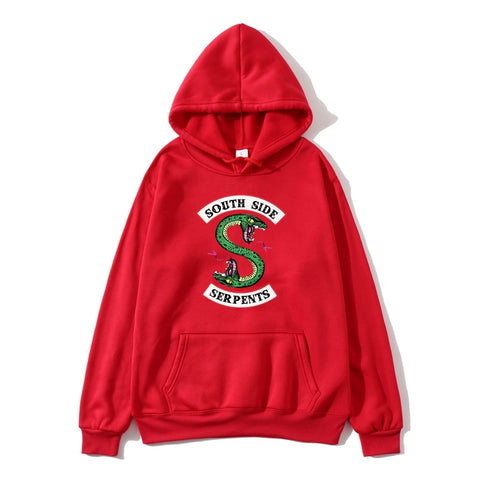 Riverdale Southside Serpents Harajuku Funny Cartoon Hoodie Women South Side Serpents Snake Print Sweatshirt Ullzang Hoody Female