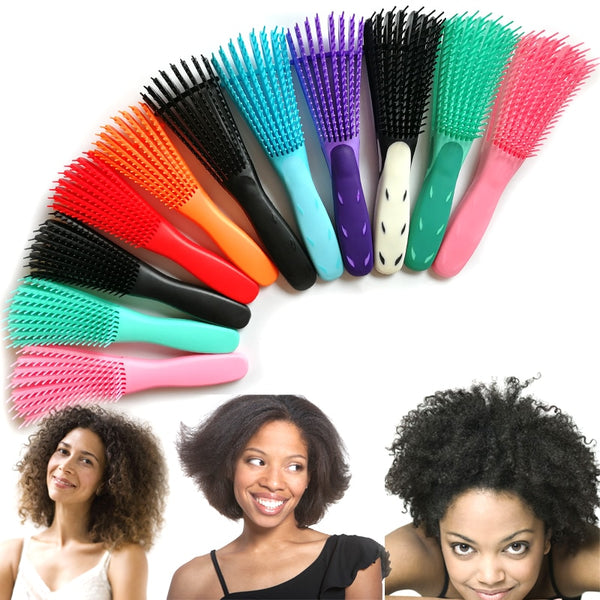 Detangling Plastic Hair Brush Scalp Massage Detangler Wet Curly Comb Women Health Care Reduce Fatigue hairbrush styling tools