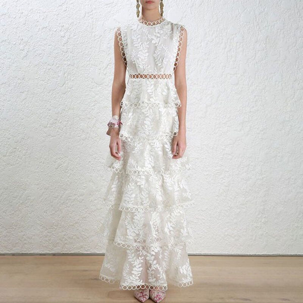 Top Quality Sexy Lace Long Dress Celebrity Elegant Vintage Elegant Fashion Evneing Party Dress
