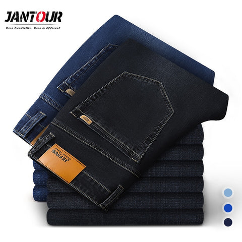 2020 New Cotton Jeans Men High Quality Famous Brand Denim trousers soft mens pants Winter Thick jean fashion Big size40 42 44 46