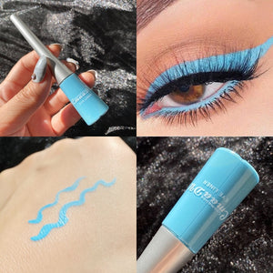 Colorful Neon Yellow White Matte Liquid Eyeliner Pencil Makeup Lasting Waterproof Liquid Eye Liner Blue Green Eyes Cosmetics Pen
