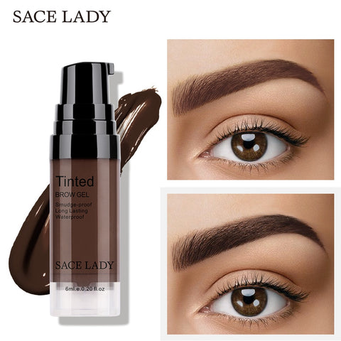 SACE LADY Eyebrow Gel Waterproof Makeup Eye Brow Wax Lasting 48 Hours Tint Cream Make Up Smooth Paint Pomade Cosmetic Wholesale